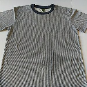 Alternative grey stripe t-shirt soft Large New